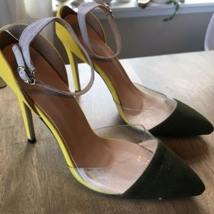 Adorable green and yellow heels